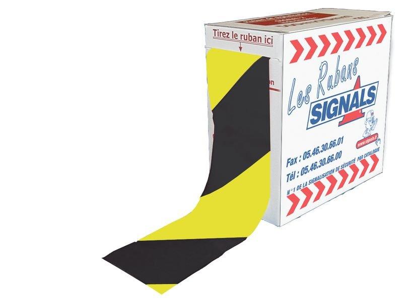 Rubans de signalisation éco jaune et noir indéchirable