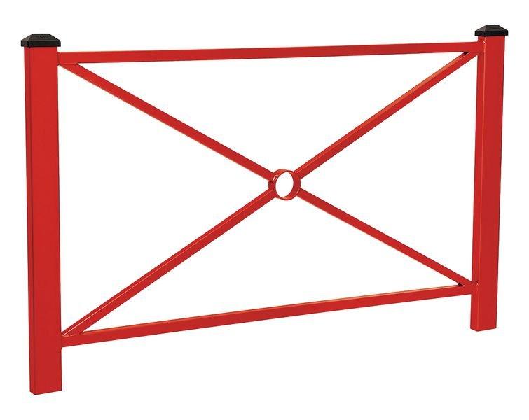 Barrière poteaux carrés