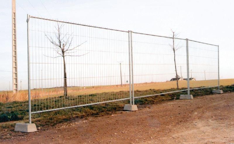 Palissade pour protection des chantiers