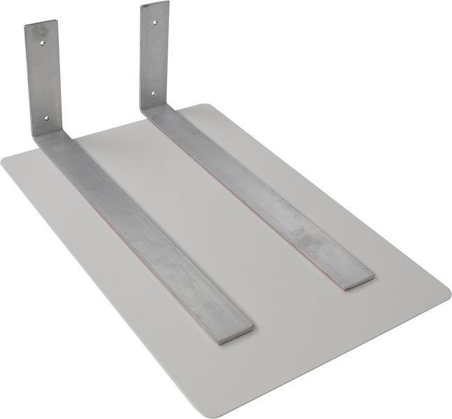 Plat aluminium pour fixation drapeau 400 x 150 mm