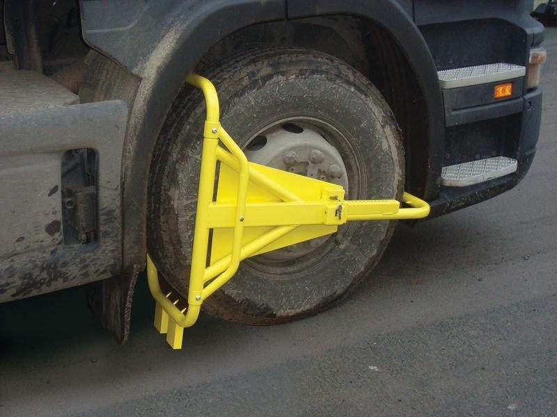 Bloque roue pour camion