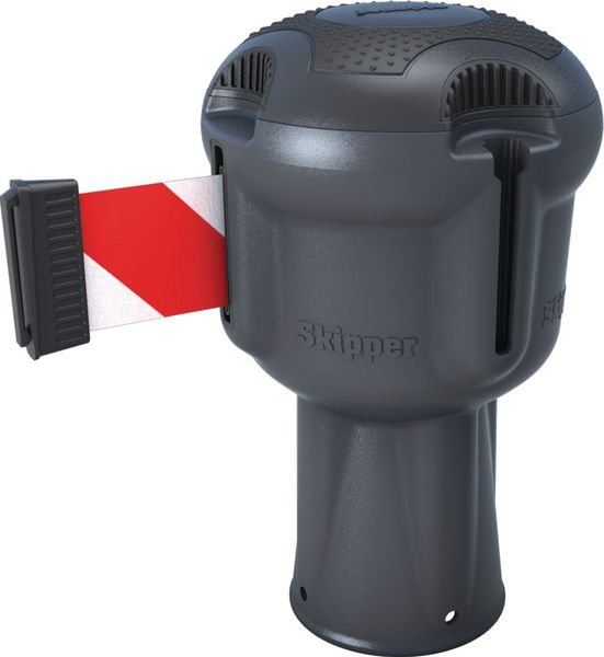 Enrouleur gris sangle 9 m pour poteau Skipper™ ou cône
