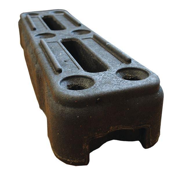 Plot caoutchouc pour grilles de chantier