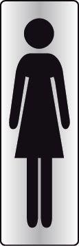 Plaque rectangulaire couleur Silhouette Femme