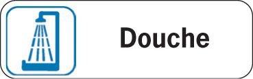 Plaque de porte en polypropylène Douche