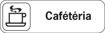 Plaque de porte en polypropylène Cafétéria