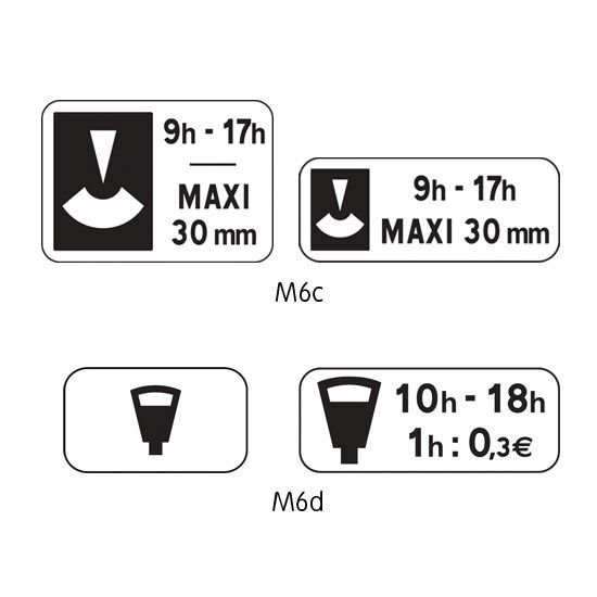 Panonceau complémentaire type B modèle M6