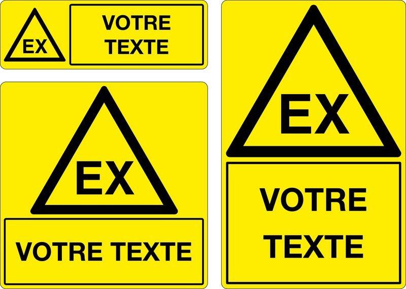 Panneau Matières explosives EX personnalisé