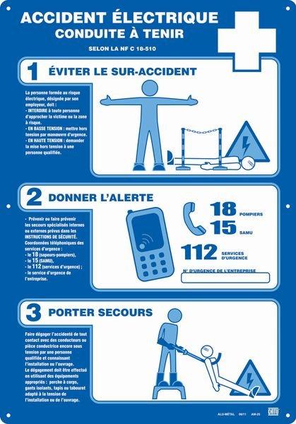 Affiche Alu Accident électrique
