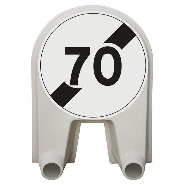 Panneau Mistral Fin de limitation de vitesse Cl 1 ou 2
