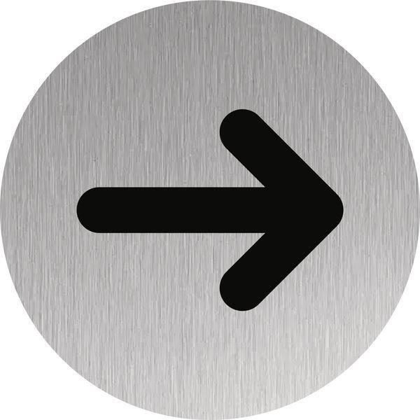 Signalétique Alu anodisé brossé symbole Flèche | Signals