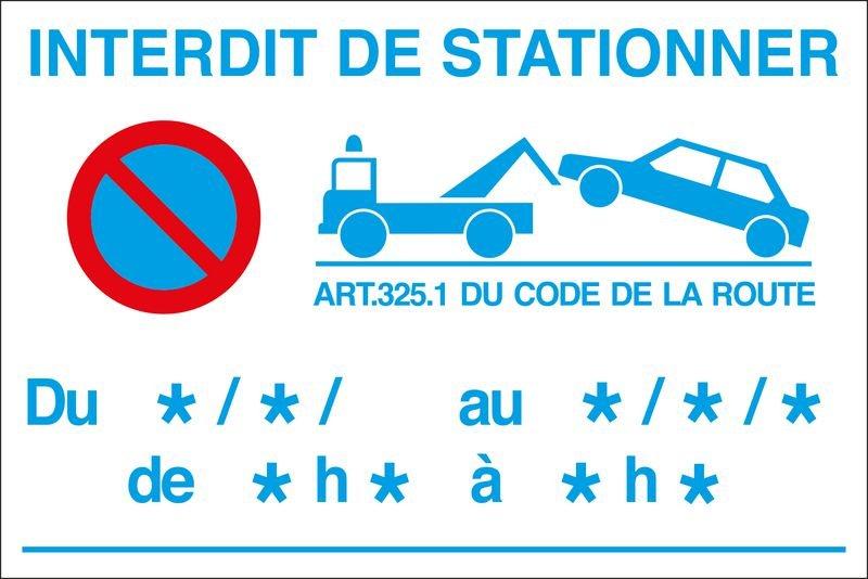 Lot 10 panneaux interdiction temporaire de stationner