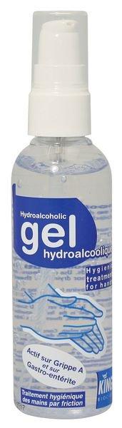 Gel hydroalcoolique avec pompe pour les mains 100 ml