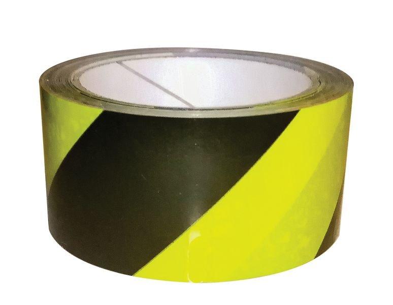 Bande adhésive au sol économique jaune et noir 33 m