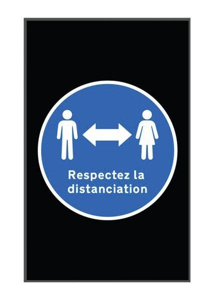 Tapis de distanciation sociale respect distanciation en portrait