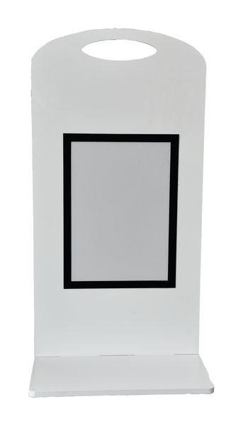 Support d'affichage avec pochette transparente