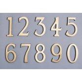 Symbol CLM9704 Chiffre laiton massif 97 mm chiffre 4