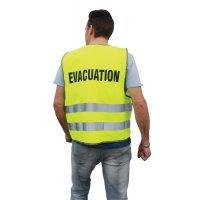 Gilet d'évacuation jaune fluo