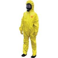 Combinaisons jetables jaunes en polyéthylène