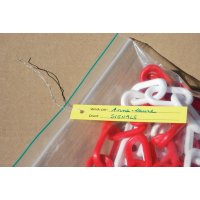 Lot 250 étiquettes PVC avec Fil métal