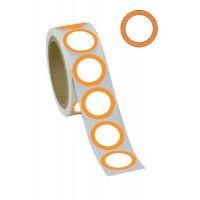 Pastilles en papier adhésif avec anneaux colorés