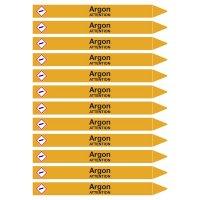 Marqueurs de tuyauterie CLP Signals Gaz