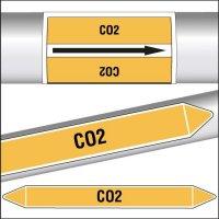 Marqueurs de tuyauterie CLP texte CO2
