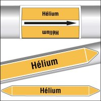 Marqueurs de tuyauterie CLP texte Hélium