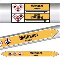 Marqueurs de tuyauterie CLP Méthanol