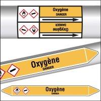 Marqueurs de tuyauterie CLP Oxygène