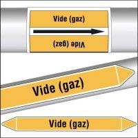 Marqueurs de tuyauterie CLP Vide (gaz)
