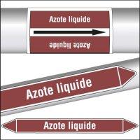 Marqueurs de tuyauterie CLP Azote liquide