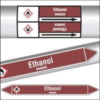 Marqueurs de tuyauterie CLP Ethanol