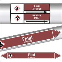 Marqueurs de tuyauterie CLP texte Fioul