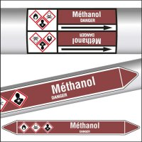 Marqueurs de tuyauterie CLP Méthanol inflammable