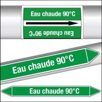 Marqueurs de tuyauterie CLP Eau chaude 90°C