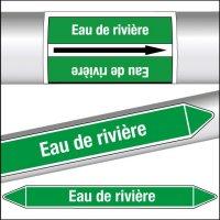 Marqueurs de tuyauterie CLP Eau de rivière