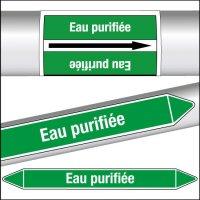 Marqueurs de tuyauterie CLP Eau purifiée
