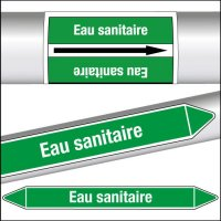 Marqueurs de tuyauterie CLP Eau sanitaire