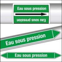 Marqueurs de tuyauterie CLP Eau sous pression