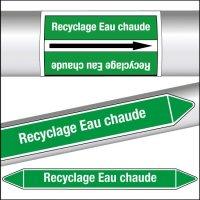 Marqueurs de tuyauterie CLP Recyclage Eau chaude