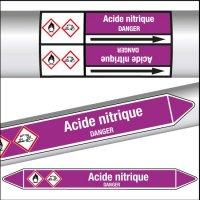 Marqueurs de tuyauterie CLP Acide nitrique