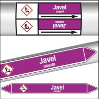 Marqueurs de tuyauterie CLP texte Javel