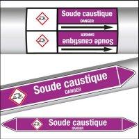 Marqueurs de tuyauterie CLP Soude caustique