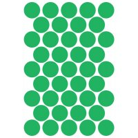 Pastilles rondes vinyle adhésives fluorescentes