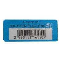 Etiquettes adhésives de propriété avec code barres