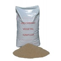 Absorbant d'origine végétale ignifugé - lot 5 sacs