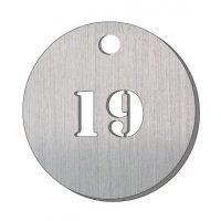 Jetons numérotés en métal ajouré 2 chiffres