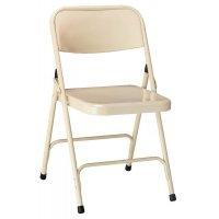 4 chaises d'appoint pliantes métal