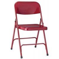 4 chaises d'appoint pliantes métalliques